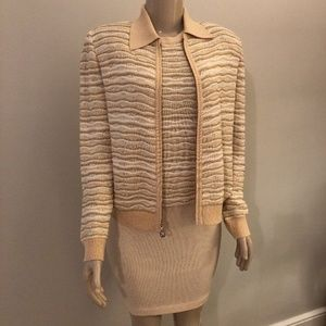 St. John tan stripe Size 2 suit